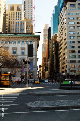 Foto op Plexiglas New York TAXI 5th Avenue New York City