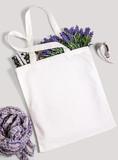 Fototapety White blank cotton eco tote bag, design mockup.