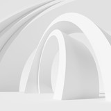 Fototapety Architecture Circular Background. Abstract Building Design