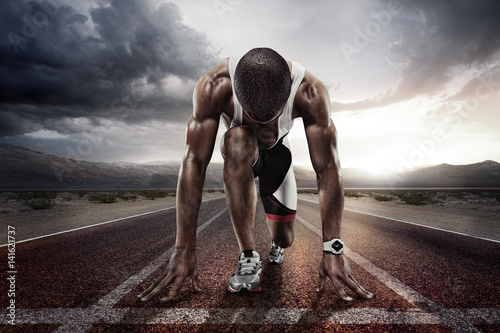Fototapeta Sport. Starting runner.