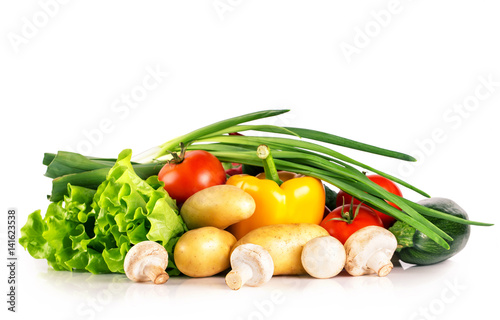 Still life with fresh vegetables