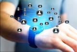 Concept of business international network interface - Technology concept
