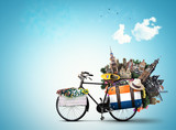 Netherlands, a city bicycle with Dutch attractions