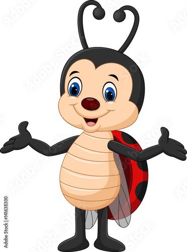 Cartoon ladybug posing