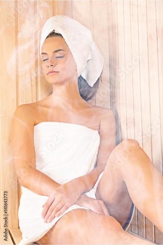 Sauna. Poster