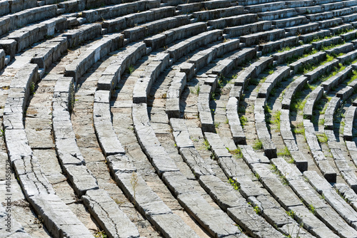 Part of the Stadium in the archaeological site of ancient Messene in Peloponnese, Greece
