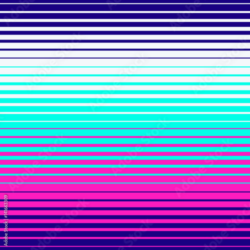 Materiał do szycia Abstract geometric disco pattern. Bright neon colors. Memphis style pattern. Seamless vector pattern. Vector futuristic illustration.