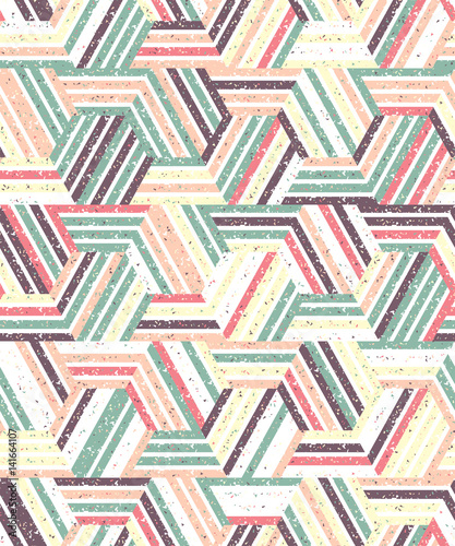 fototapeta na ścianę Abstract seamless pattern of a plurality of triangles and stripes. Textured background.