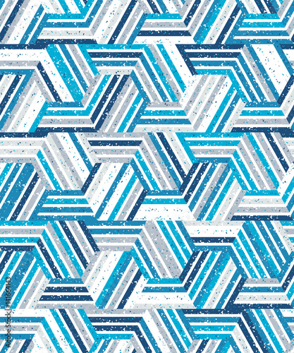 obraz PCV Abstract seamless pattern of a plurality of triangles and stripes. Textured background.