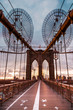 New York Brooklyn  bridge empty - 141667196