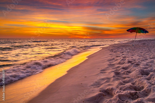 Fotobehang Strand Sunset on Florida Beach