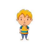 Kid silence gesture - 141669981