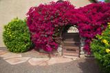 Beautiful Gate Entry in Spring, Phoenix, Arizona, USA, horizontal