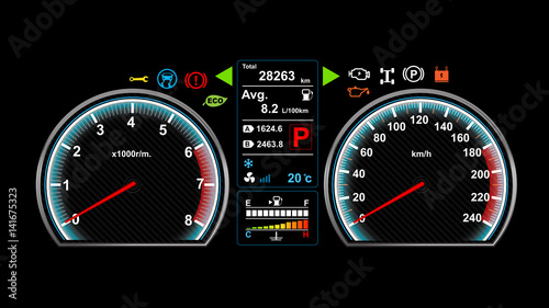 Car dash board vector illustration eps 10