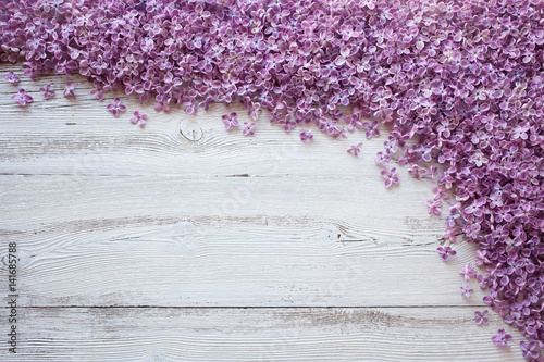 Background with flowers of lilac
