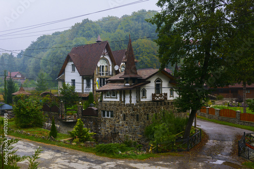 Residential private house in the mountain village © serg11111