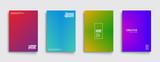 Fototapety Minimal covers design. Cool modern colors. Geometric halftone gradients. Eps10 vector.