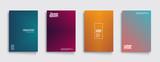Fototapety Minimal covers design. Geometric halftone gradients. Eps10 vector.