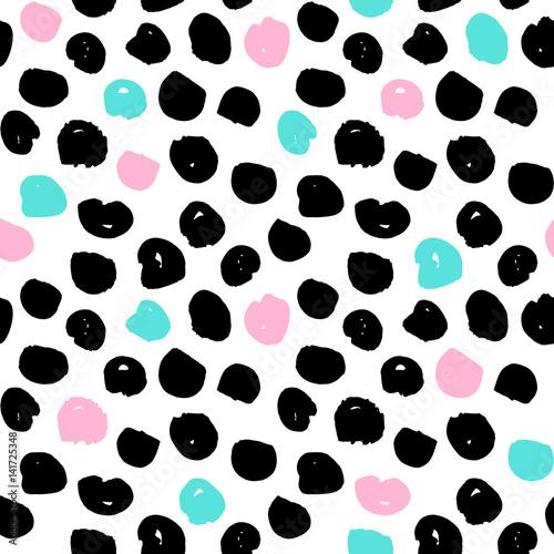 Materiał do szycia Dots Trendy Seamless Pattern