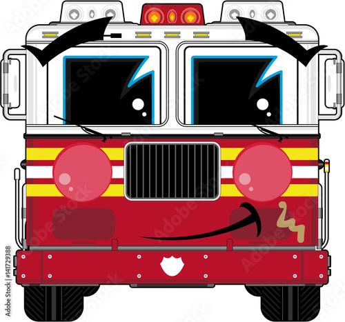 Postać z kreskówki strażak ładny