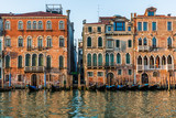 Venice Italy, life on the canals with gondolas