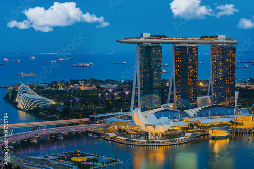 Cityscape of Singapore city, Singapore Poster
