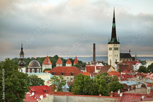 Panoramic view of Tallinn. Estonia Poster