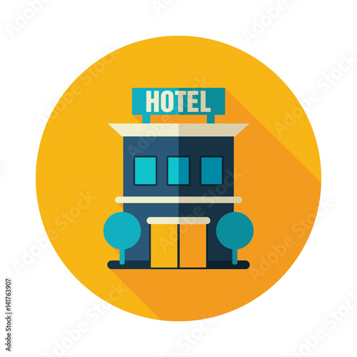 Hotel icon. Summer. Vacation
