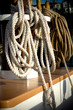 Ropes Piled on Boat Deck