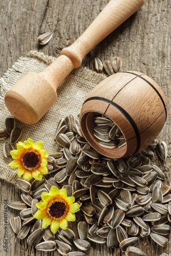 flower seeds inbowl