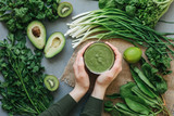 green food delicious soup smoothie - 141783189