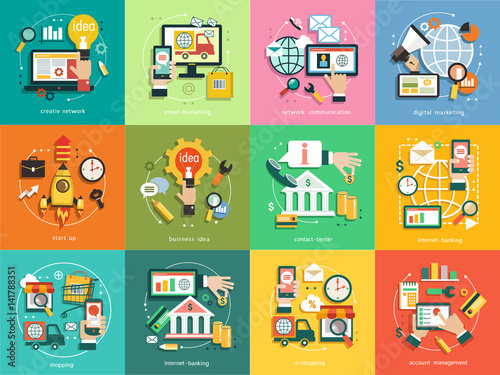 infographics background business