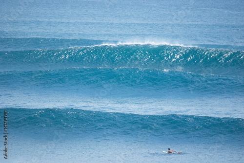 Vague et surf Poster