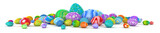 Pile of colorful Easter eggs - 3d render - 141798769