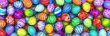 Fototapety Pile of birght and colorful Easter Eggs - 3d render