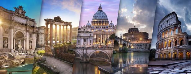 Kolaż Rzym i watykan