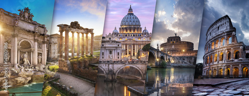 Foto op Plexiglas Rome Rome et Vatican Italie