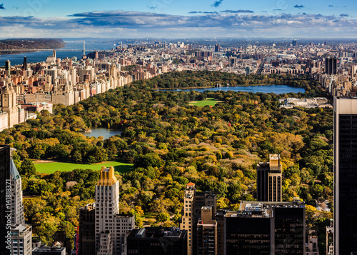 Aerial view of New York Manhattan Central Park Poster