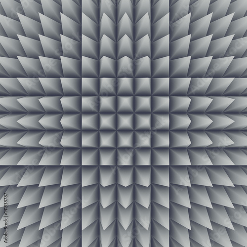 Fototapeta White abstract surface pattern. 3d rendering