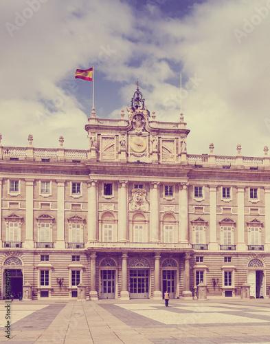 Madrid. Main facade of Royal Palace