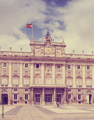 Madrid. Main facade of Royal Palace Poster