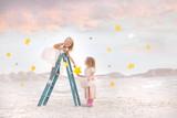 Fairy Tale - Girls gathering stars - 141849703