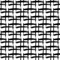 Seamless pattern with hand drawn black and white stripes.