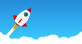 Raketenstart Durch Wolken Wall Sticker