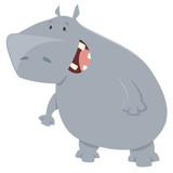hippo cartoon animal character - 141873339