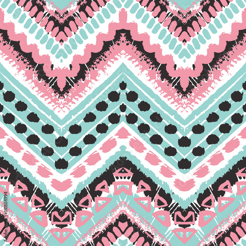 Tribal ethnic seamless pattern - 141884994