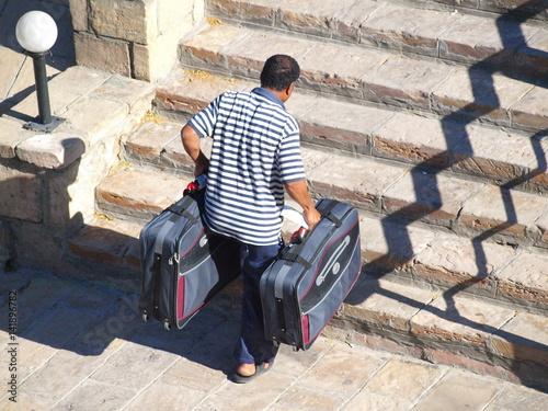 Poster Ein Kofferträger