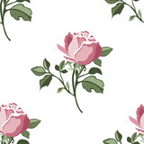 Floral pattern with colorful roses.Seamless pattern   with flower.Textile texture