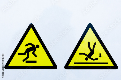 Stampa su Tela Collection of warning signs