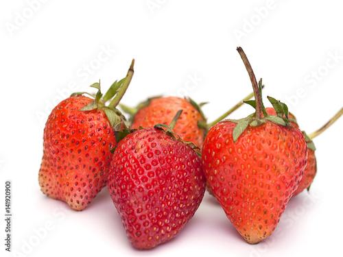 Strawberries , Healthy fruit.